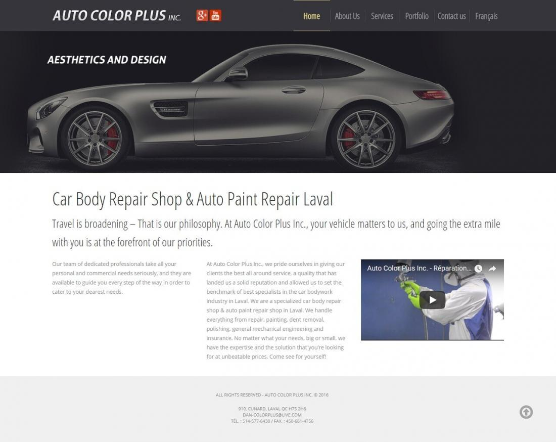 Auto Color Plus, Portfolio WebCie, photo