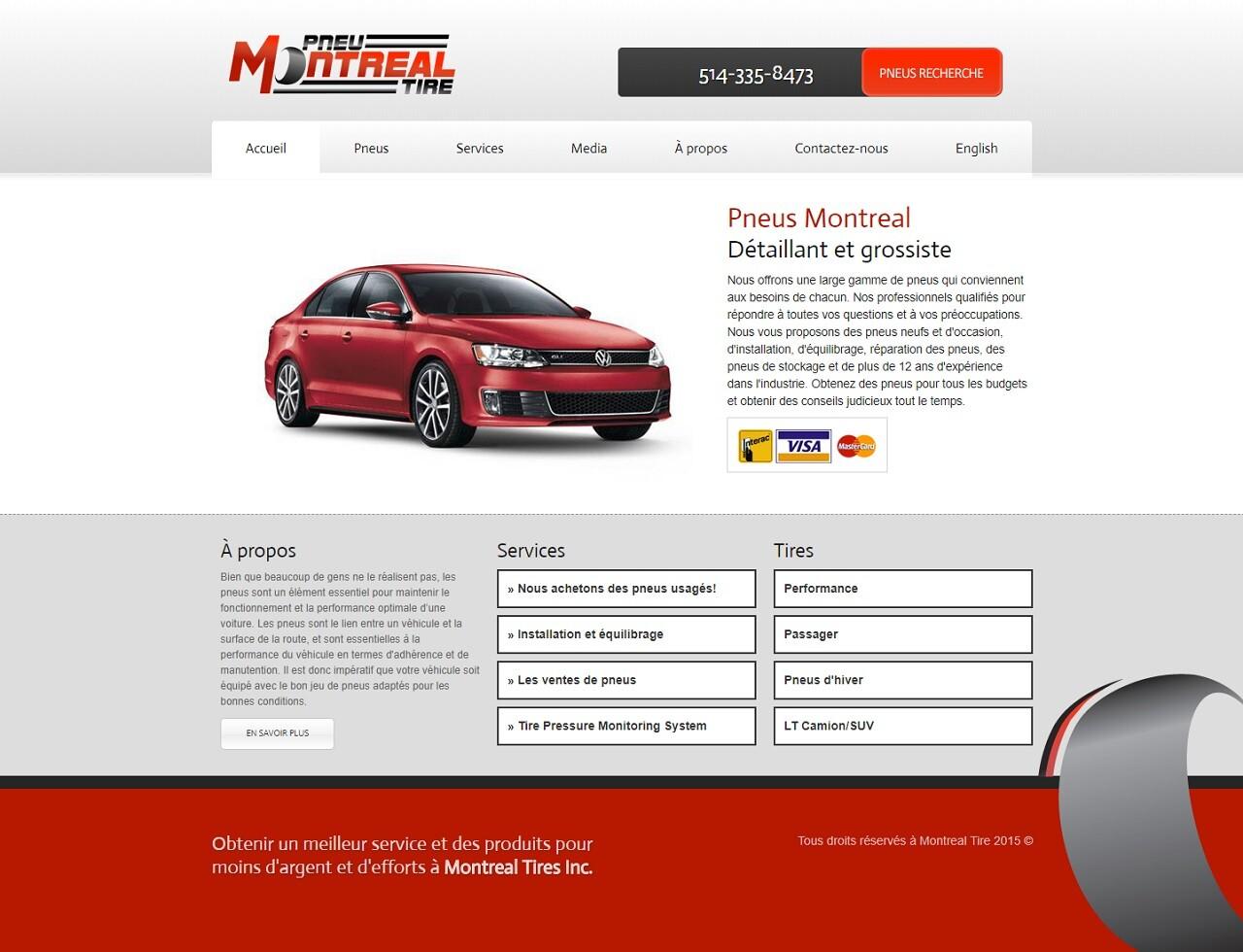 Montreal Tire, WebCie portfolio, photo
