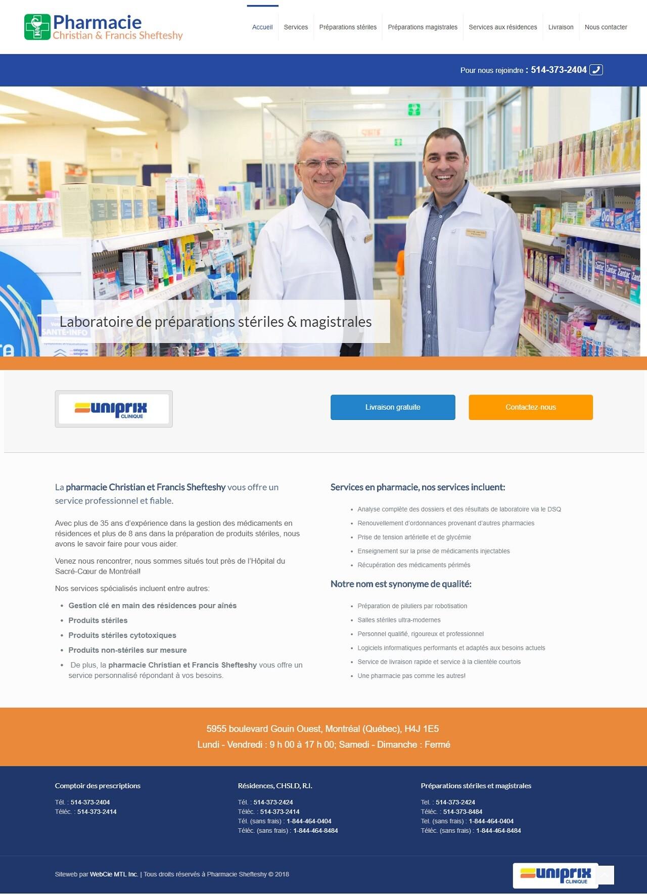 Pharmacie Shefteshy, WebCie portfolio, photo