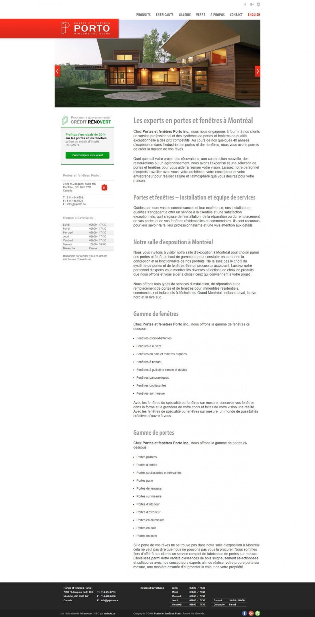 Portes et fenetres Porto, WebCie portfolio, photo