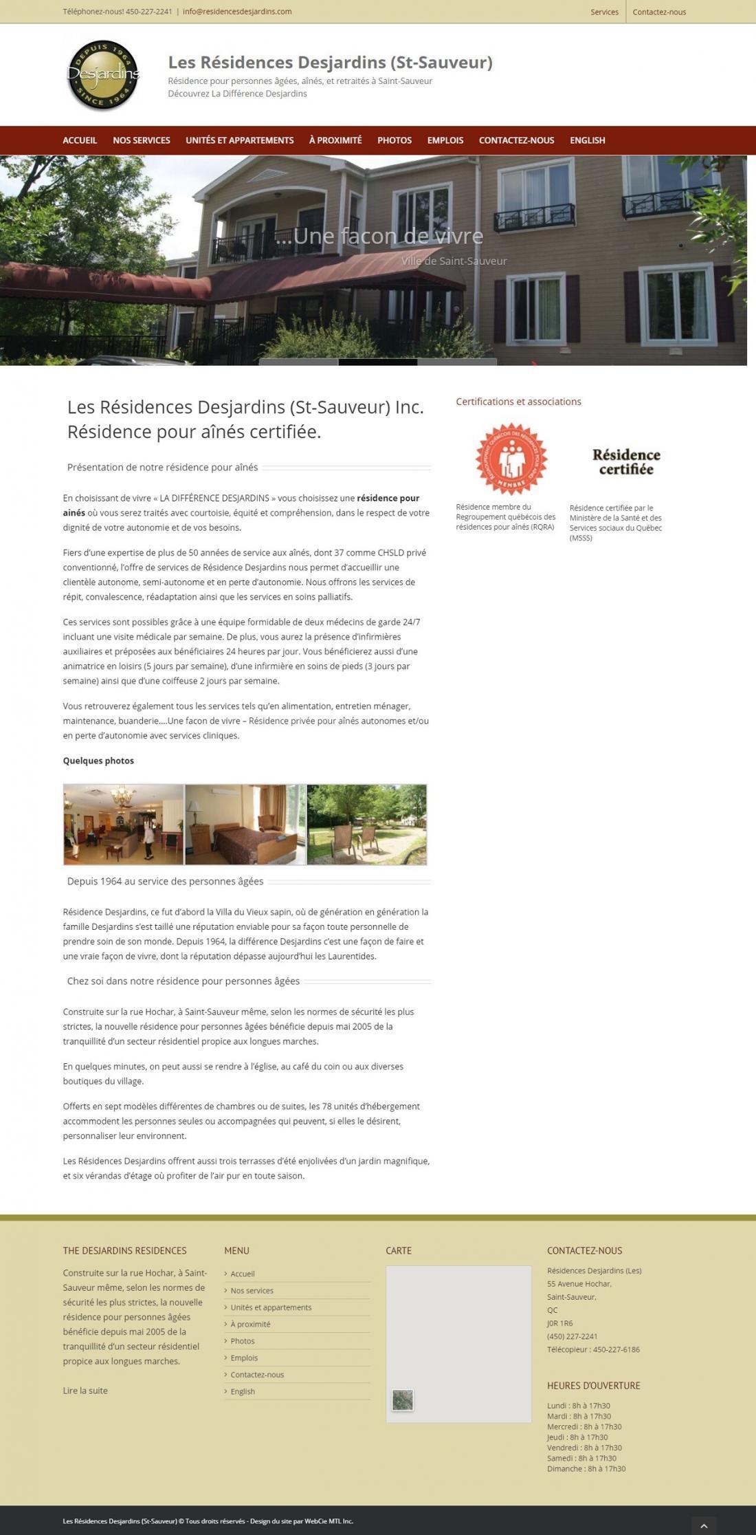 Résidence Desjardins, WebCie portfolio, photo