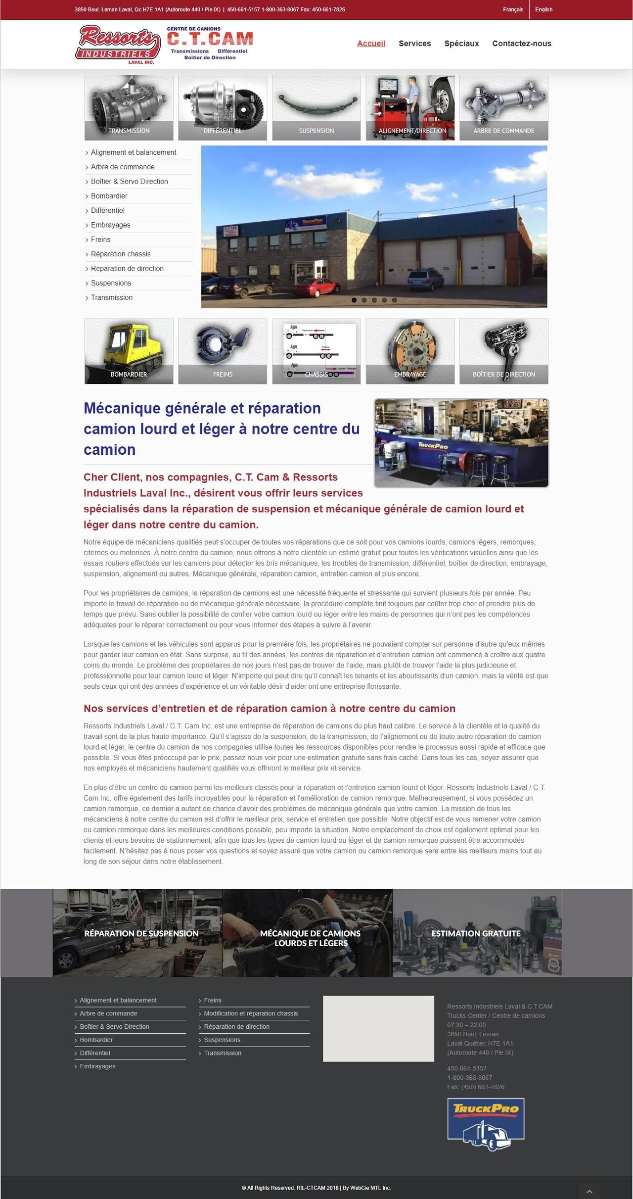 Ressorts Industriels Laval Inc., CT CAM, WebCie portfolio, photo