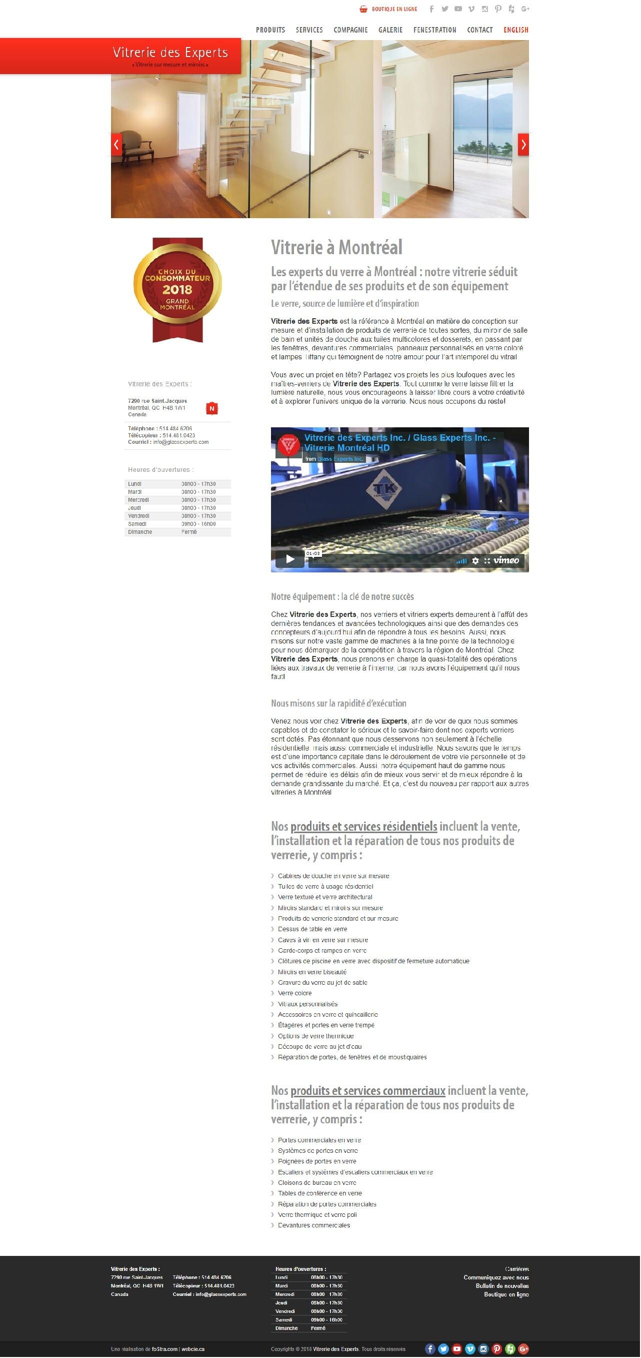 Vitrerie Des Experts, WebCie portfolio, photo