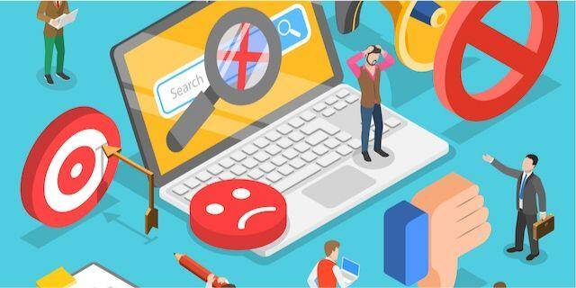 Illustration stratégie de contenu à éviter, WebCie