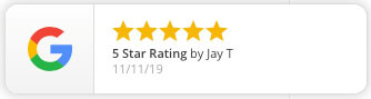 Google review example