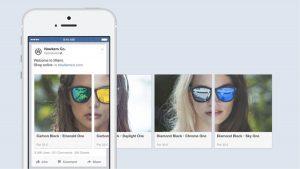 Publicités Facebook de type carrousel