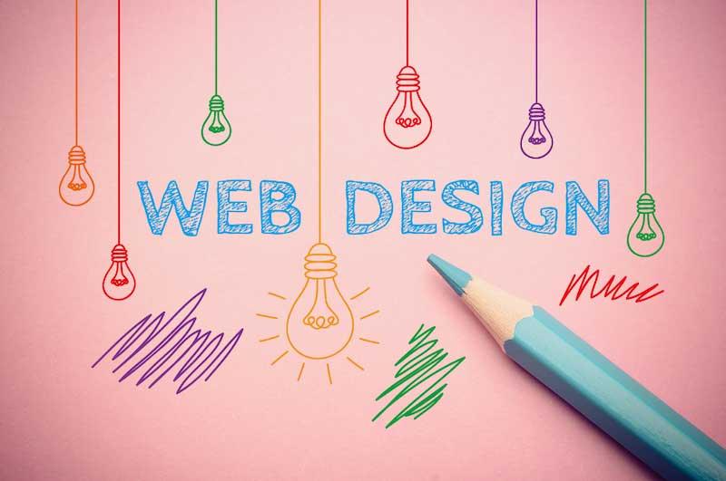 concept de design web en dessin