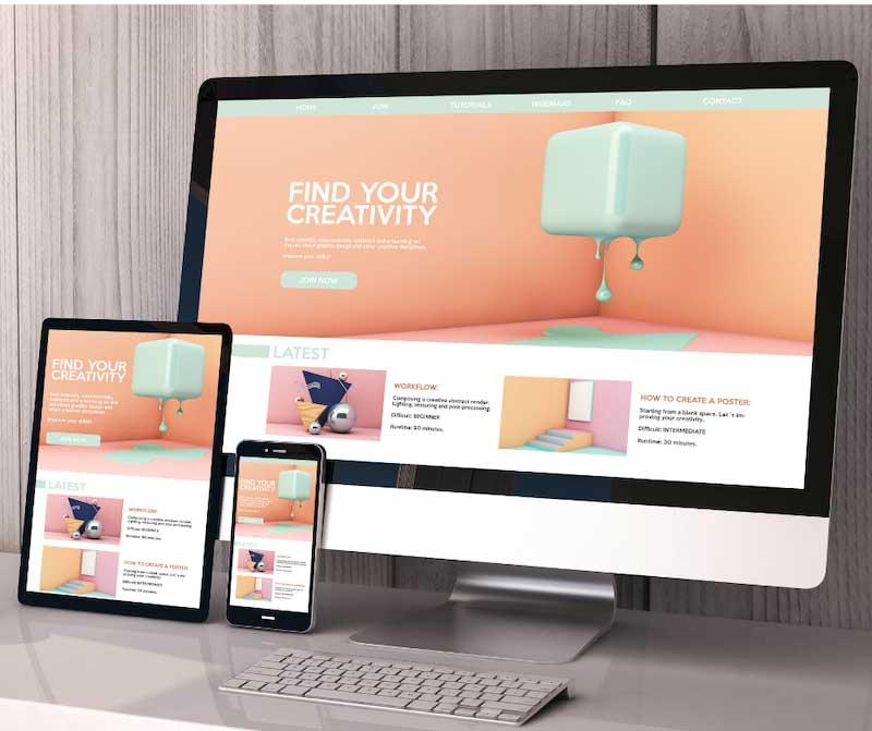 le design web présenté sur différents supports