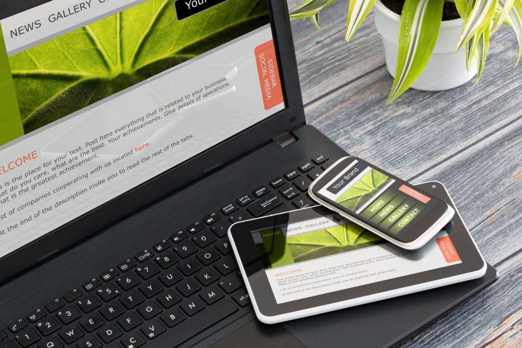 conception web pour un site responsive sur tablette et mobile
